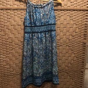 Max studio blue print dress
